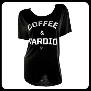 Old Navy Coffee and Cardio Short Sleeve T-Shirt